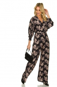 IRO |  Jumpsuit with flower print Mexi | black  | Picture 3
