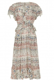 IRO |  Maxi dress with print Lanty | white  | Picture 1