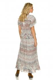 IRO |  Maxi dress with print Lanty | white  | Picture 6