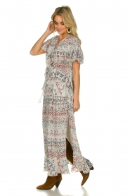 IRO |  Maxi dress with print Lanty | white  | Picture 5