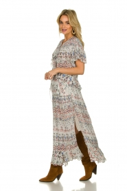 IRO |  Maxi dress with print Lanty | white  | Picture 4