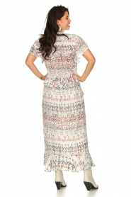 IRO |  Maxi dress with print Lanty | white  | Picture 6