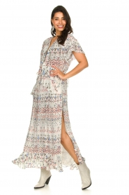IRO |  Maxi dress with print Lanty | white  | Picture 2