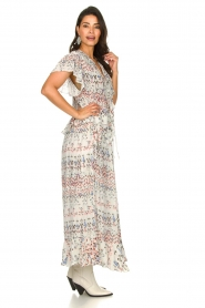 IRO |  Maxi dress with print Lanty | white  | Picture 5