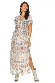 IRO |  Maxi dress with print Lanty | white  | Picture 4