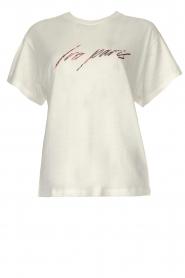 IRO | T-shirt met opdruk Lyka | wit   | Afbeelding 1