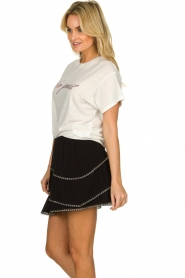 IRO | T-shirt met opdruk Lyka | wit   | Afbeelding 4