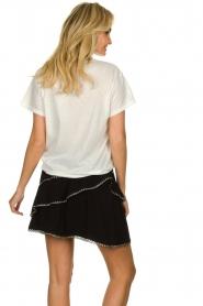 IRO | T-shirt met opdruk Lyka | wit   | Afbeelding 5