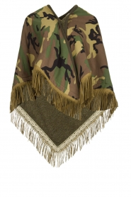 Katherina Loretta |  Poncho with army print Nana | green  | Picture 1