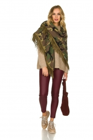 Katherina Loretta |  Poncho with army print Nana | green  | Picture 2