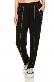 IRO |  Pants with metallic details Egini | black  | Picture 4