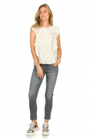 Lolly's Laundry |  Top with lurex details Harmony | white  | Picture 3