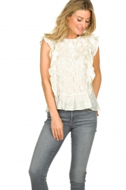 Lolly's Laundry |  Top with lurex details Harmony | white  | Picture 2