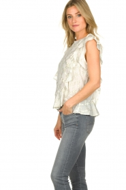 Lolly's Laundry |  Top with lurex details Harmony | white  | Picture 5