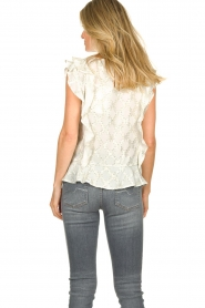 Lolly's Laundry |  Top with lurex details Harmony | white  | Picture 6
