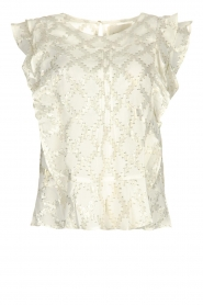 Lolly's Laundry |  Top with lurex details Harmony | white  | Picture 1