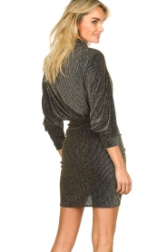 IRO |  Dress with shimmering lurex Absalon | black  | Picture 6