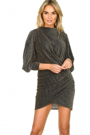 IRO |  Dress with shimmering lurex Absalon | black  | Picture 2