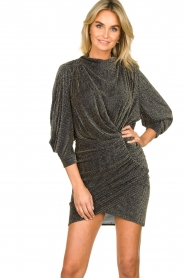 IRO |  Dress with shimmering lurex Absalon | black  | Picture 4