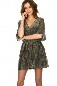 IRO |  Dress with lurex Wide | metallic  | Picture 5