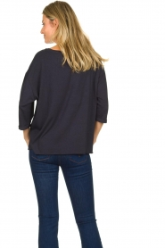 Blaumax |  T-Shirt with rolled up sleeves Babette | blue  | Picture 6