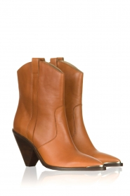 Toral | Leather boots with metal cap Elisio | camel  | Picture 3