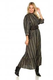 Antik Batik |  Maxi dress with lurex Meeti | black  | Picture 3