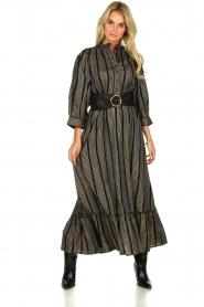 Antik Batik |  Maxi dress with lurex Meeti | black  | Picture 2