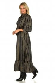 Antik Batik |  Maxi dress with lurex Meeti | black  | Picture 4