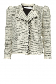 IRO |  Bouclé blazer with shoulder padding Diana | naturel  | Picture 1
