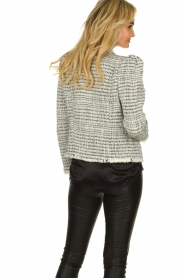 IRO |  Bouclé blazer with shoulder padding Diana | naturel  | Picture 6