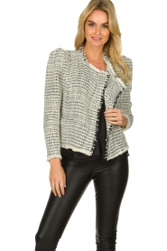 IRO |  Bouclé blazer with shoulder padding Diana | naturel  | Picture 4