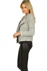 IRO |  Bouclé blazer with shoulder padding Diana | naturel  | Picture 5