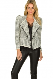 IRO |  Bouclé blazer with shoulder padding Diana | naturel  | Picture 2