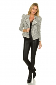 IRO |  Bouclé blazer with shoulder padding Diana | naturel  | Picture 3