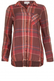 Bella Dahl |  Blouse with frayed hem Martha | red  | Picture 1