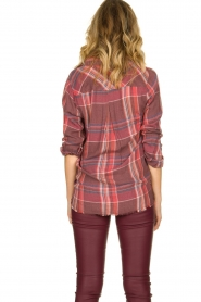 Bella Dahl |  Blouse with frayed hem Martha | red  | Picture 5