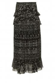 IRO |  Maxi skirt with ruffles Suma | black  | Picture 1