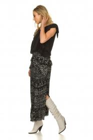 IRO |  Maxi skirt with ruffles Suma | black  | Picture 3