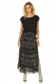 IRO |  Maxi skirt with ruffles Suma | black  | Picture 5