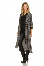 Bella Dahl |  Plaid dress Mercury | grey  | Picture 4
