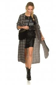 Bella Dahl |  Plaid dress Mercury | grey  | Picture 2