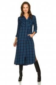 Bella Dahl |  Plaid dress Mercury | blue  | Picture 2