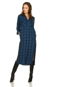 Bella Dahl |  Plaid dress Mercury | blue  | Picture 3