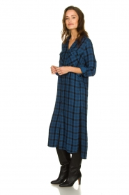 Bella Dahl |  Plaid dress Mercury | blue  | Picture 4