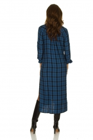 Bella Dahl |  Plaid dress Mercury | blue  | Picture 5