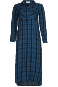 Bella Dahl |  Plaid dress Mercury | blue  | Picture 1