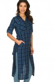 Bella Dahl |  Plaid dress Mercury | blue  | Picture 4