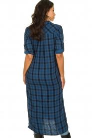 Bella Dahl |  Plaid dress Mercury | blue  | Picture 5