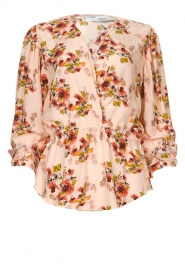 IRO |  Blouse with flower print Postie | nude  | Picture 1